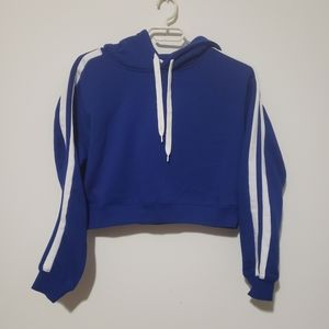 3/25$ Bluenotes crop hoodie sweatshirt size XS